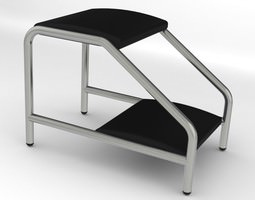 3d model double step foot stool