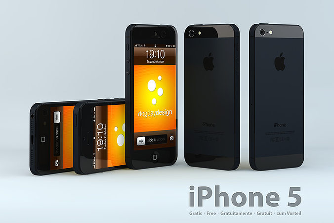 iphone 5 models iphone 5 3d model free cgtrader 11013