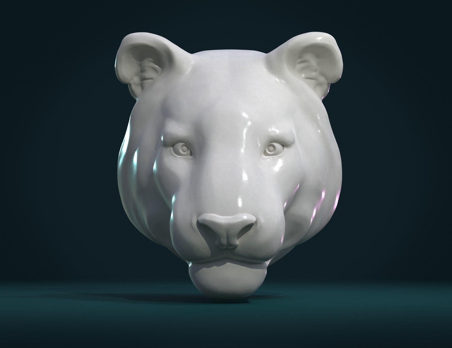 Tiger Head II 3D print model
