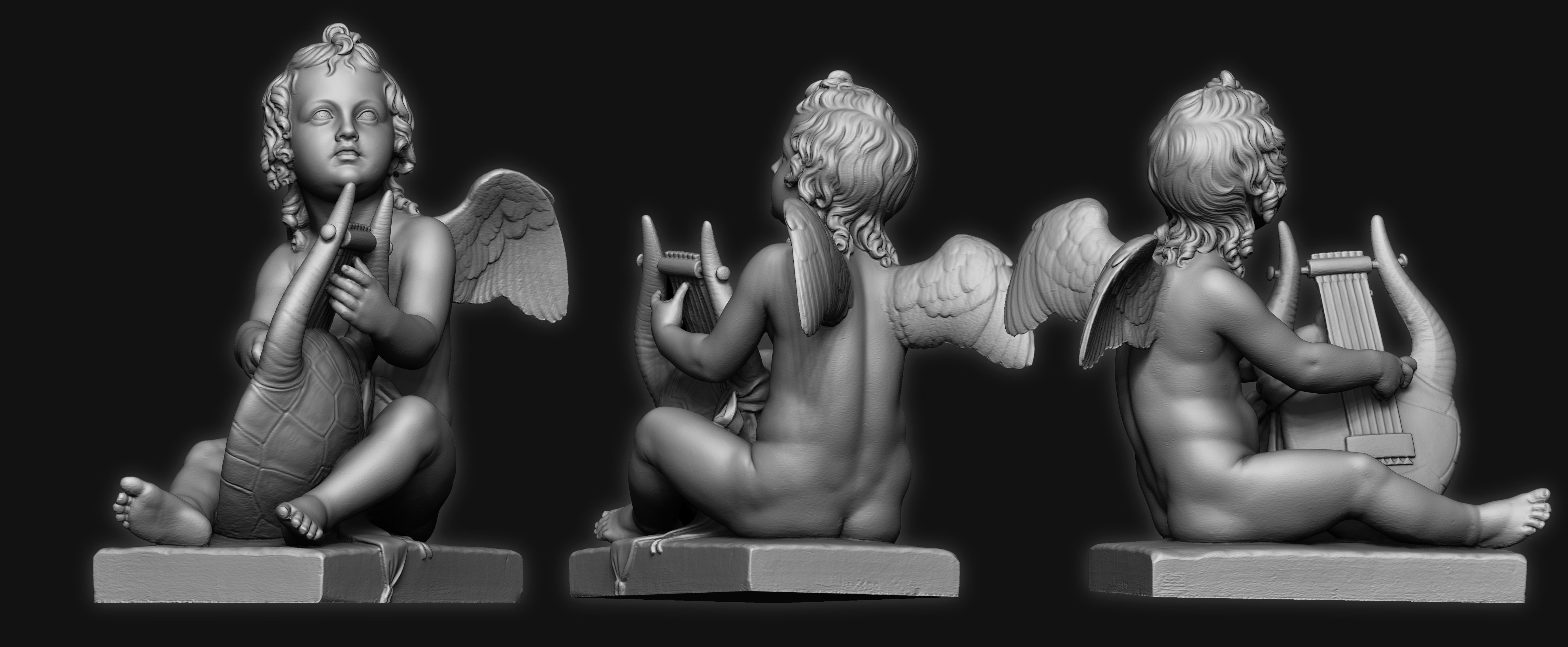 Sculpture Kid Angel 3D Print Model