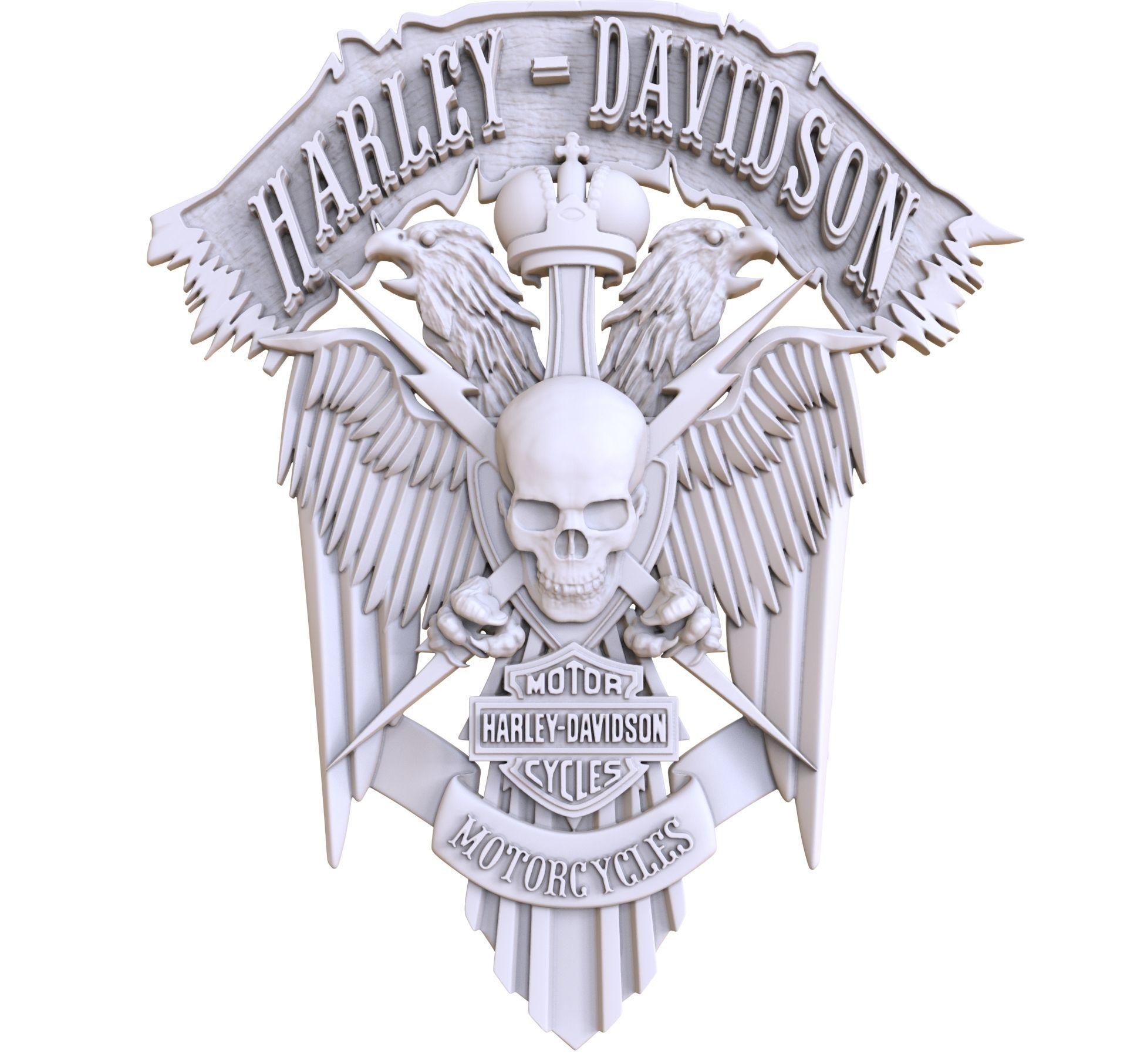 bas-relief Harley-Davidson