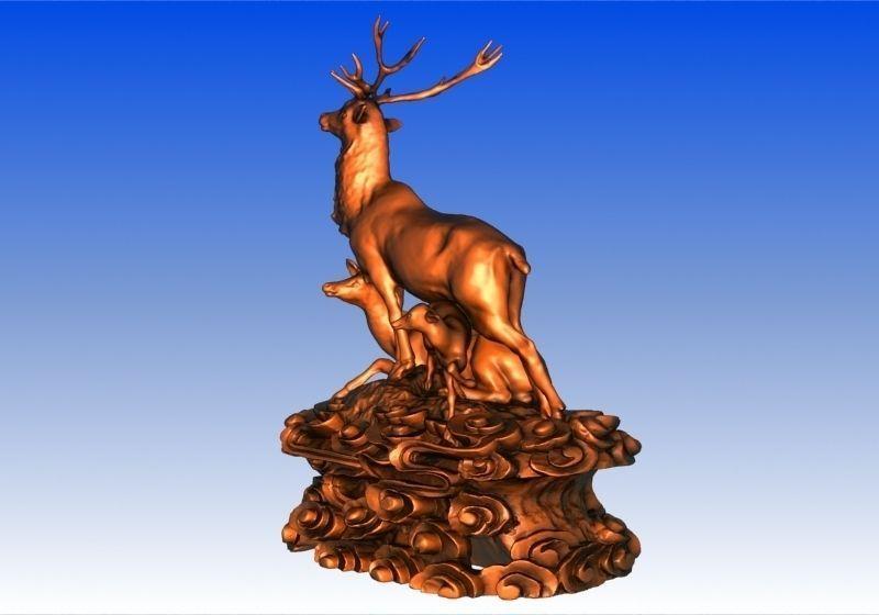 Deer Family 3d Model 3d Printable Max Obj Stl Cgtrader Com