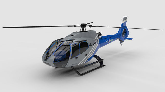 generic helicopter 3d model obj 3ds c4d 1