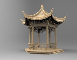 3d model a historical chinese pavilion