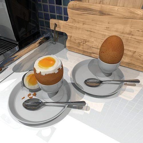 eggs boiled 3d model obj mtl 3ds fbx 3dm dwg atl atla atlo 1