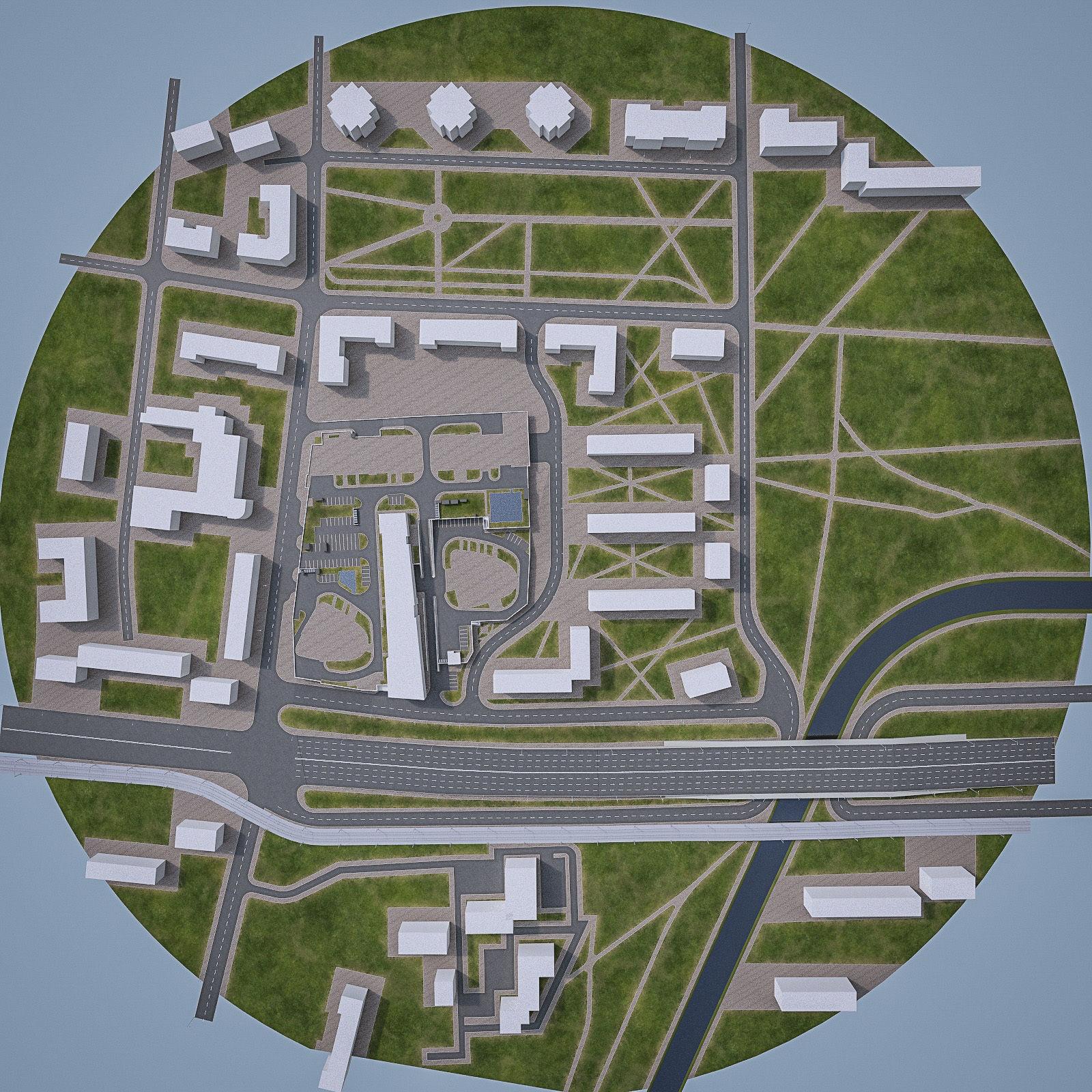 Urban Area Cityscape 07