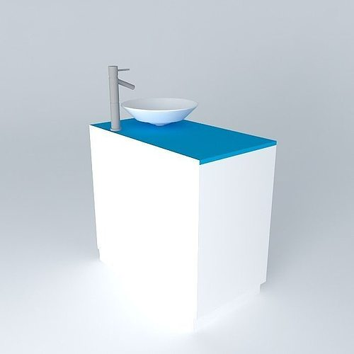 Sink And Bathroom Cabinet 3d Model Cgtrader
