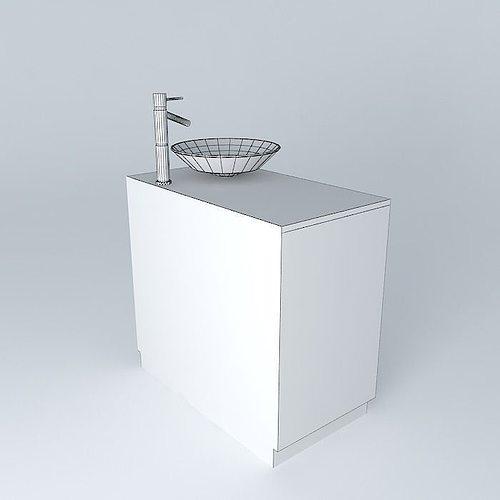 Sink And Bathroom Cabinet Free 3d Model Max Obj 3ds Fbx Stl Skp