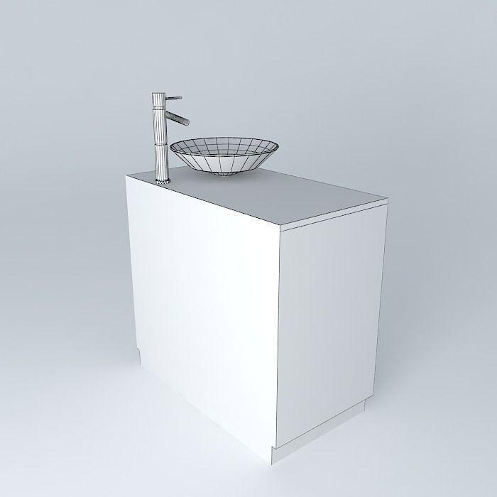 Sink And Bathroom Cabinet Free 3d Model Max Obj 3ds Fbx