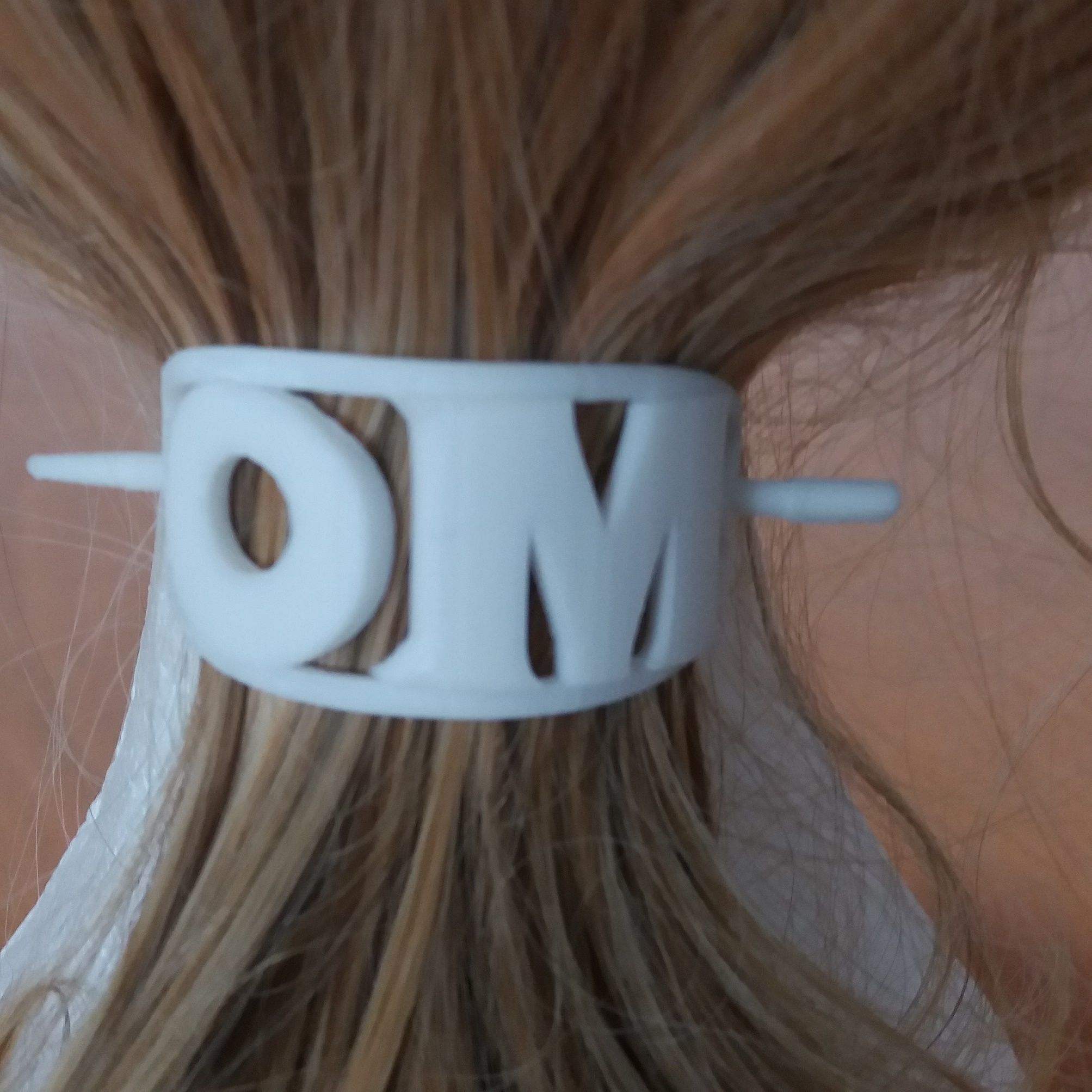 OM Personalized Oval Hair Stick Barrete 54x30mm