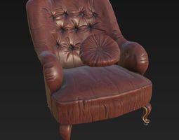 armchair classic j65 3d model