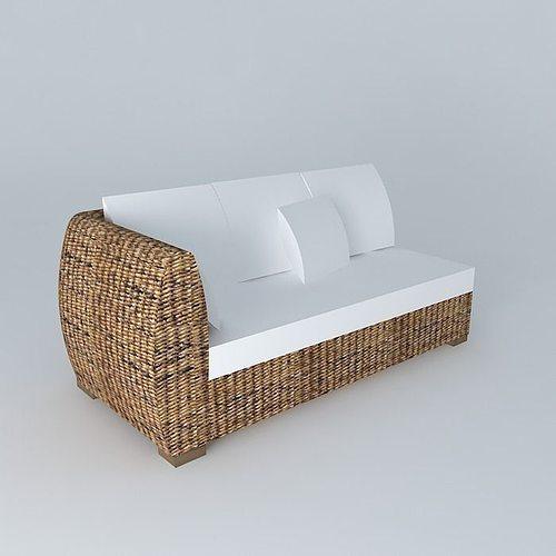 Garden Sofa 3D Model