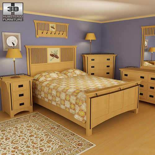 3d Model Bedroom Furniture 22 Set Cgtrader