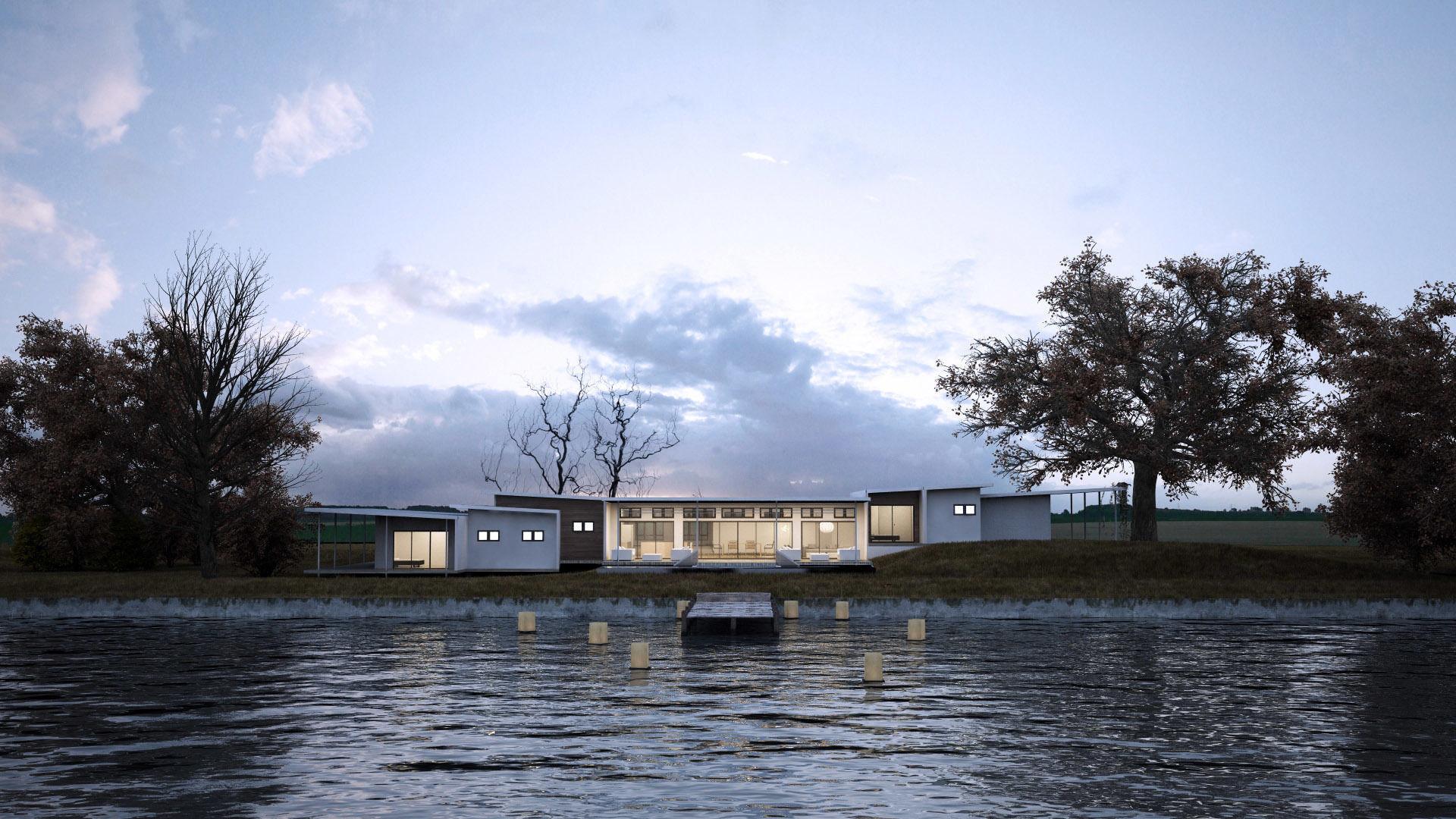 Green Residential Villa Revit Model