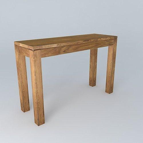console stockholm 3d model cgtrader. Black Bedroom Furniture Sets. Home Design Ideas