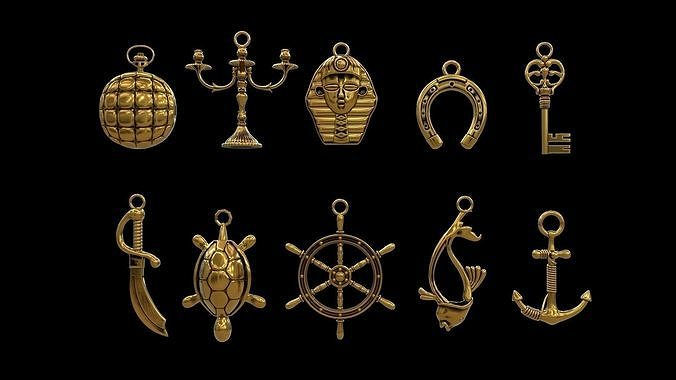 Pendant Jewelry collection  VR