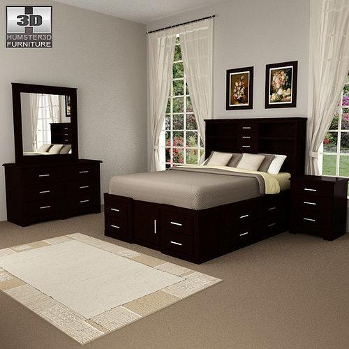 3d Model Bedroom Furniture 24 Set Cgtrader