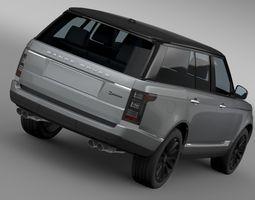range rover sv autobiography  2016 3d model max obj 3ds fbx c4d lwo lw lws