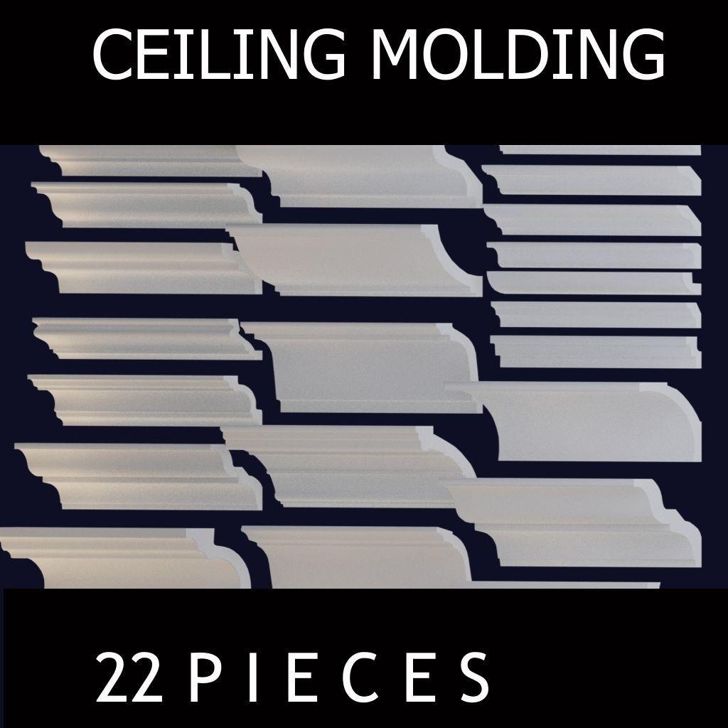 Ceiling molding 22pcs
