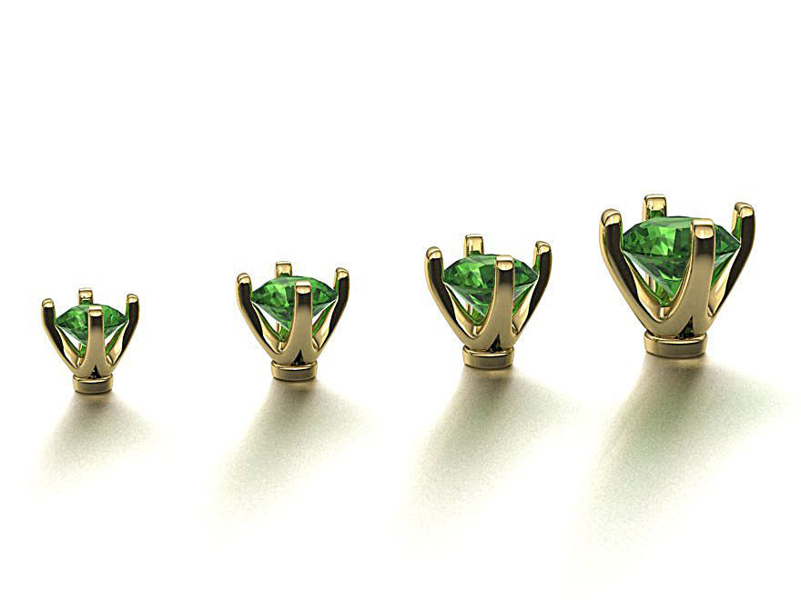 A Package of 4 Ring Heads Tiffany style 4prong