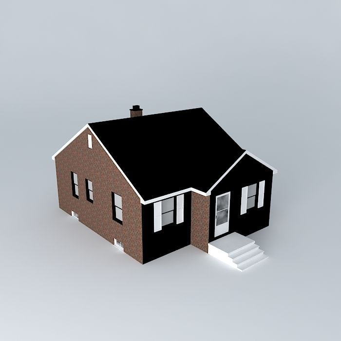 Tract House 3D Model Retro House