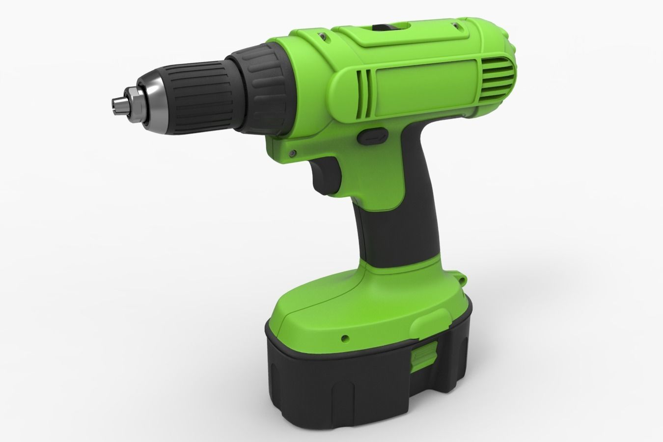 Drill machine with battery