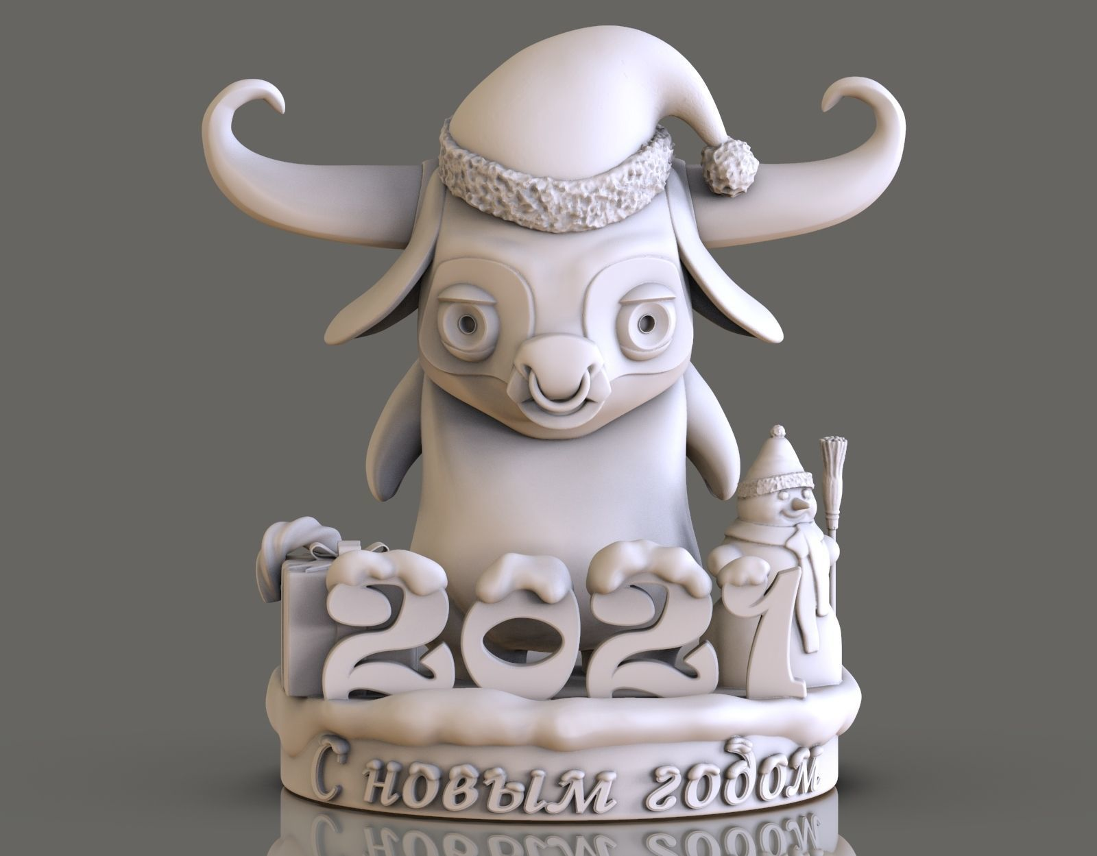 bull as a gift for the new year