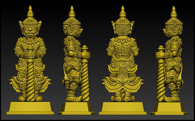 Wessuwan Giant God 3D Model