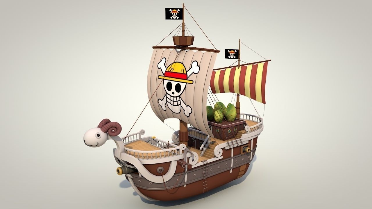Going Merry - One Piece 3D sea   CGTrader