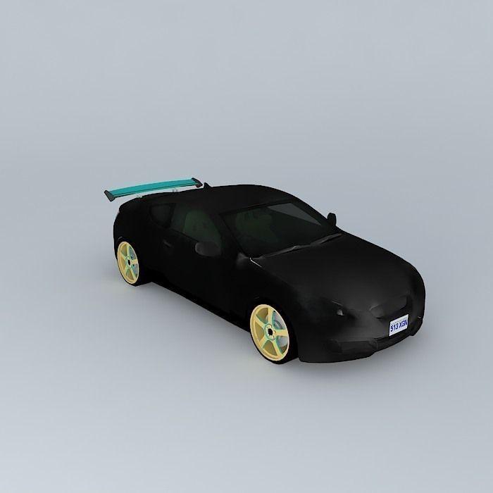 RHD Hyundai Genesis Coupe - Vocaloid Itasha Tuner free 3D
