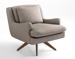 vladimir kagan venetian lounge armchair  3d model