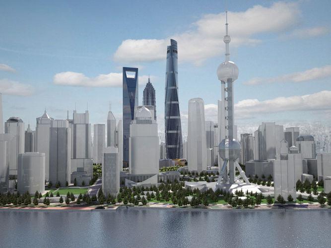 shanghai tower downtown 3d model max obj mtl 3ds fbx c4d lwo lw lws 1