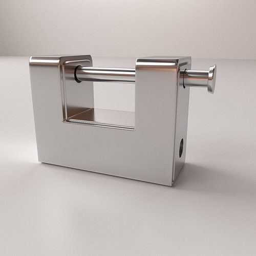 padlock v2 3d model 3ds fbx blend dae 1