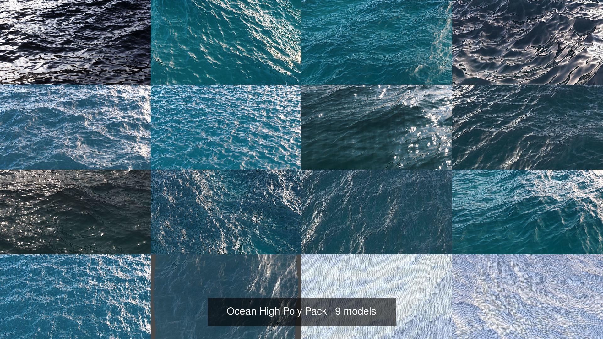 Ocean High Poly Pack