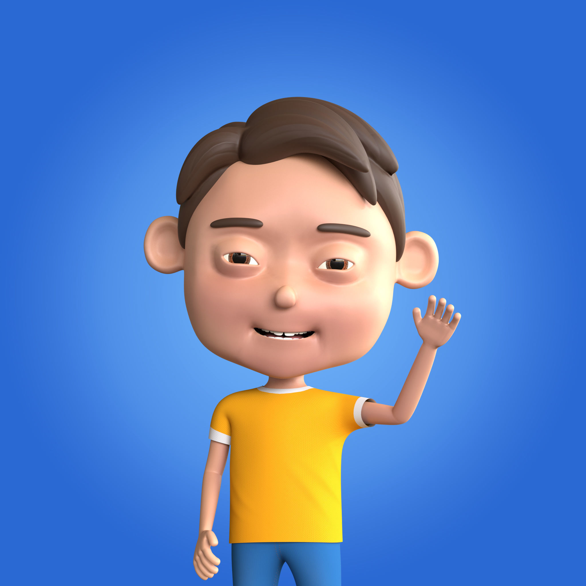 Cartoon Boy Rigged and Animated
