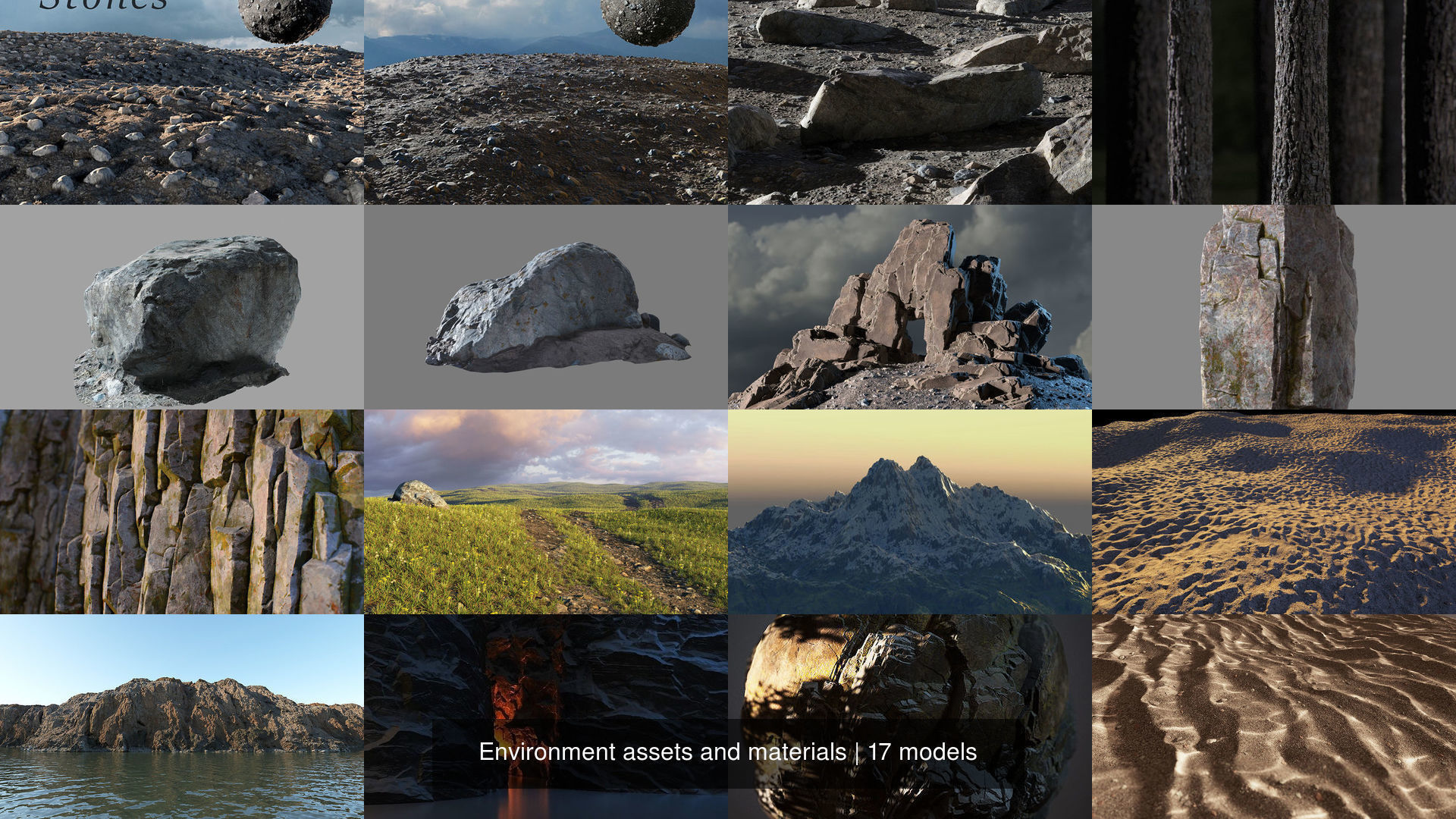 Environment assets and materials