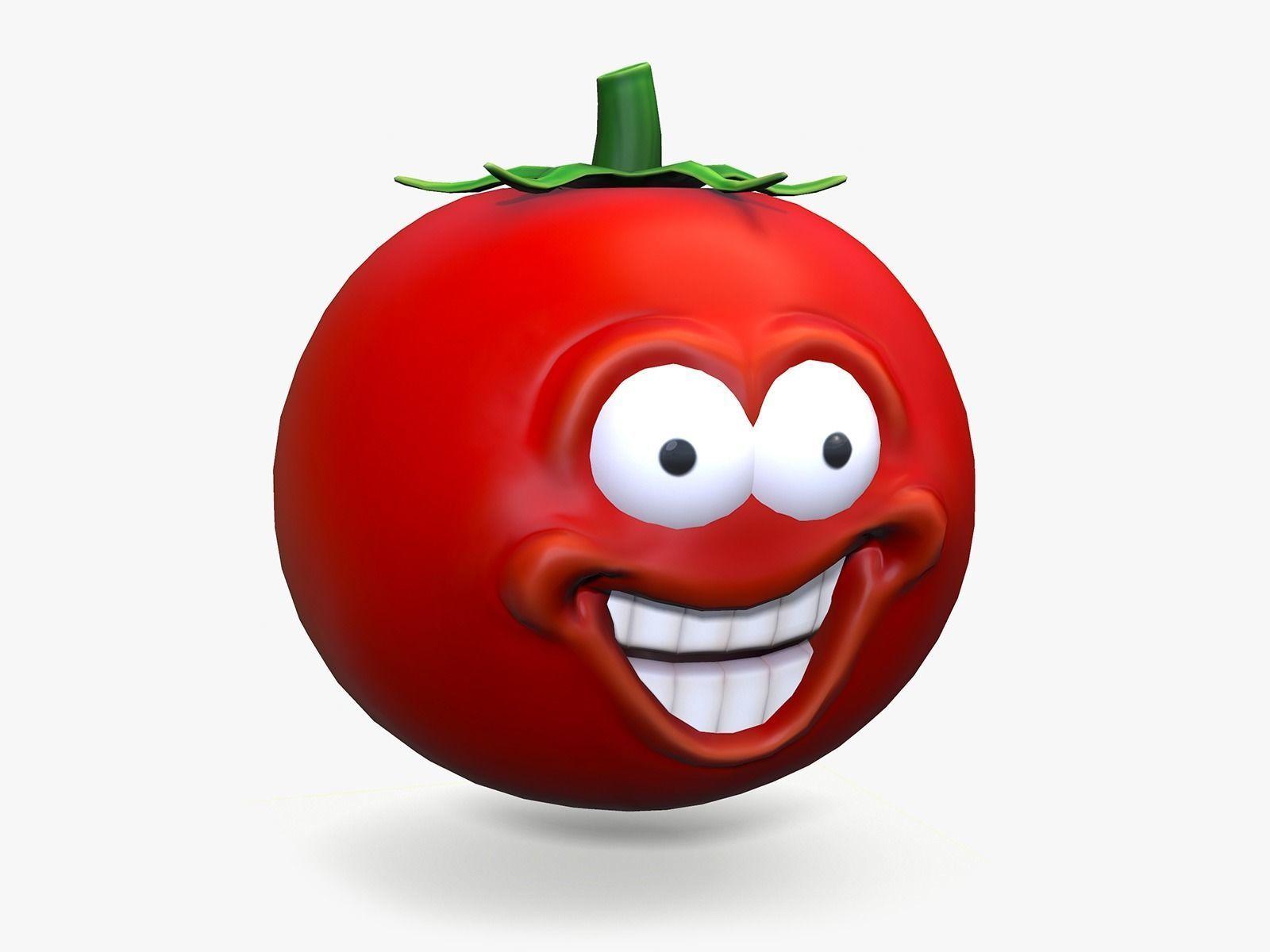 Cartoon Smiley Tomato