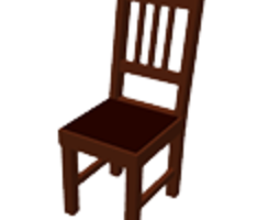 brown chair 3d