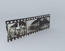 3d model  vintage racing canvas