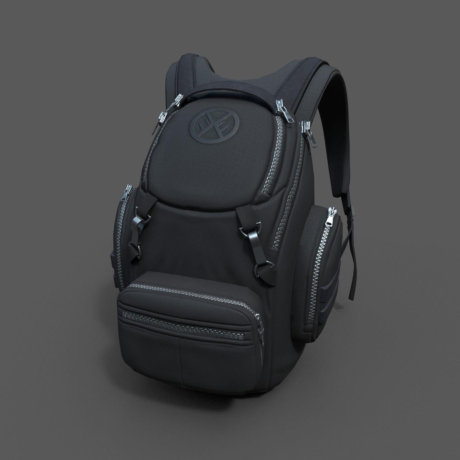 Human Backpack scifi ver 3