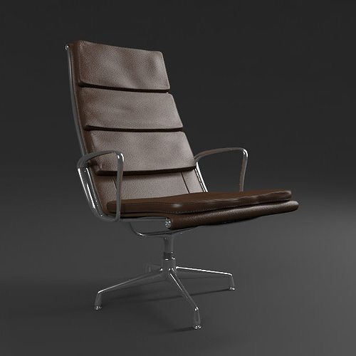 3d model eames soft pad armchair cgtrader. Black Bedroom Furniture Sets. Home Design Ideas