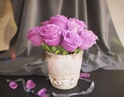 flowers in vase 3d model