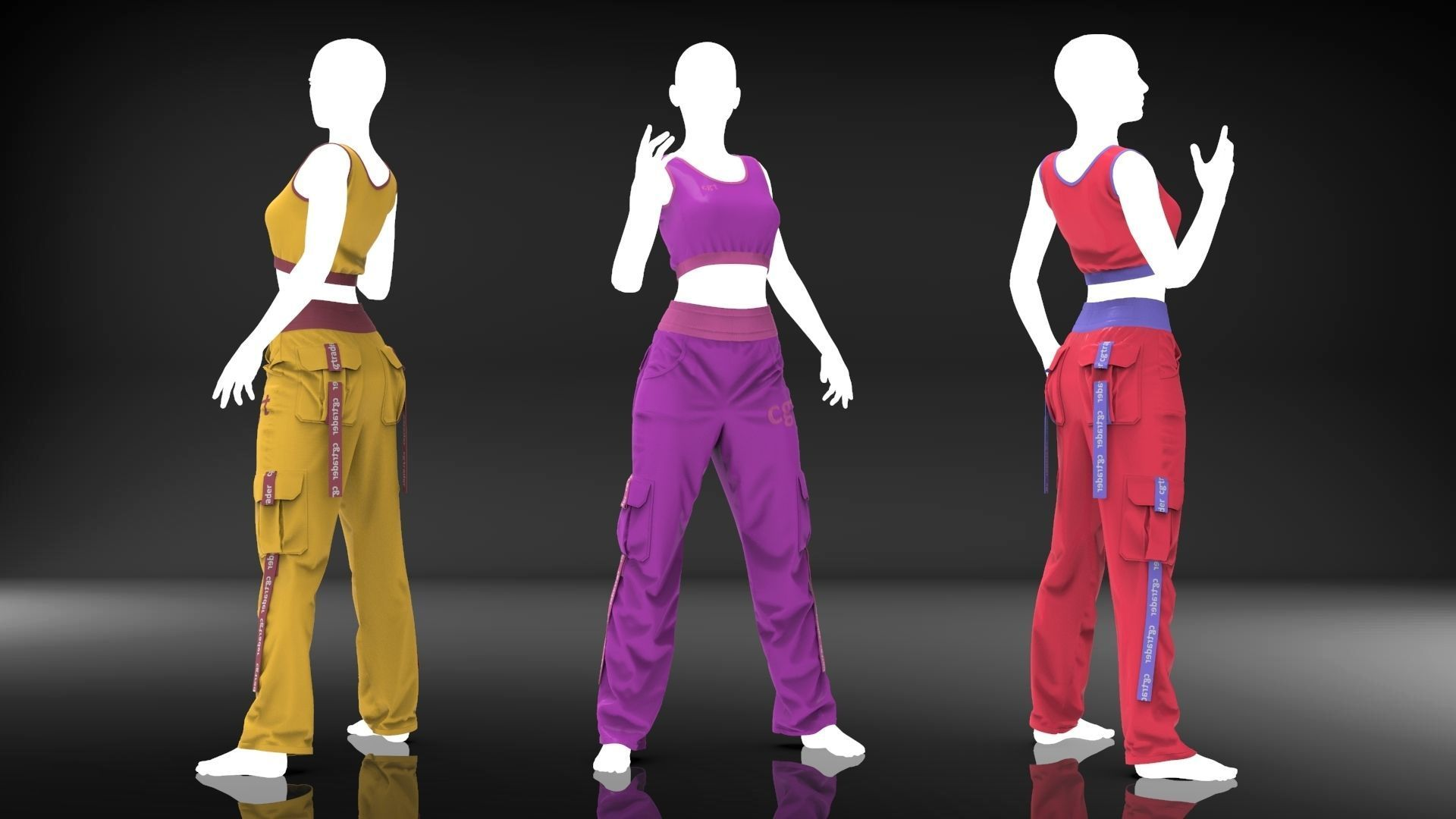 Women Loose Stage Wear - Marvelous Designer Cloth