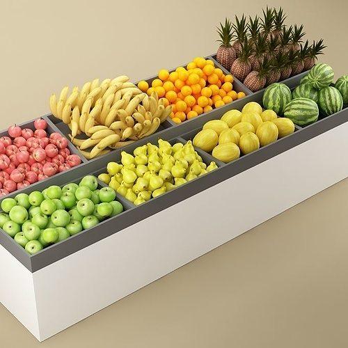 store fruits stand 3d model max obj mtl fbx 1