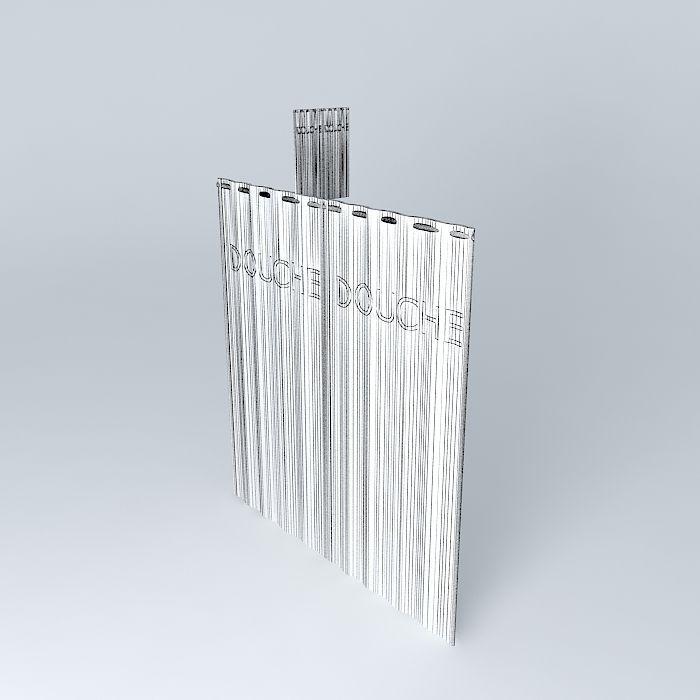 Translucent Shower Curtain 3d Model Max Obj Mtl 3ds Fbx Stl Skp 5