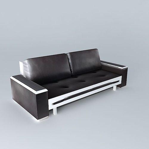 brown sofa tribeca 3d model max obj mtl 3ds fbx stl skp 1