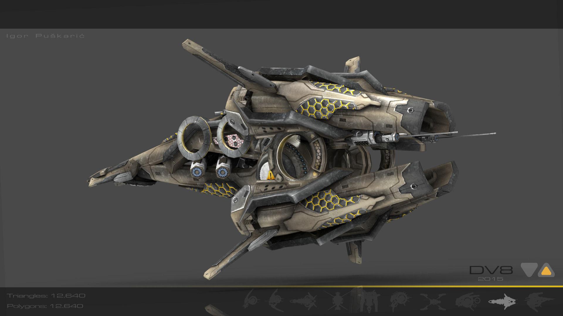 drone-v8-scifi-3d-model-low-poly-max-obj