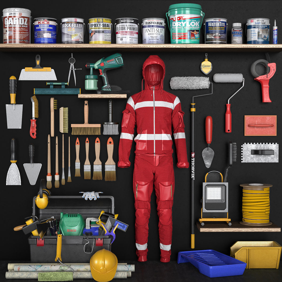 3D Asset Garage Tools Set 6