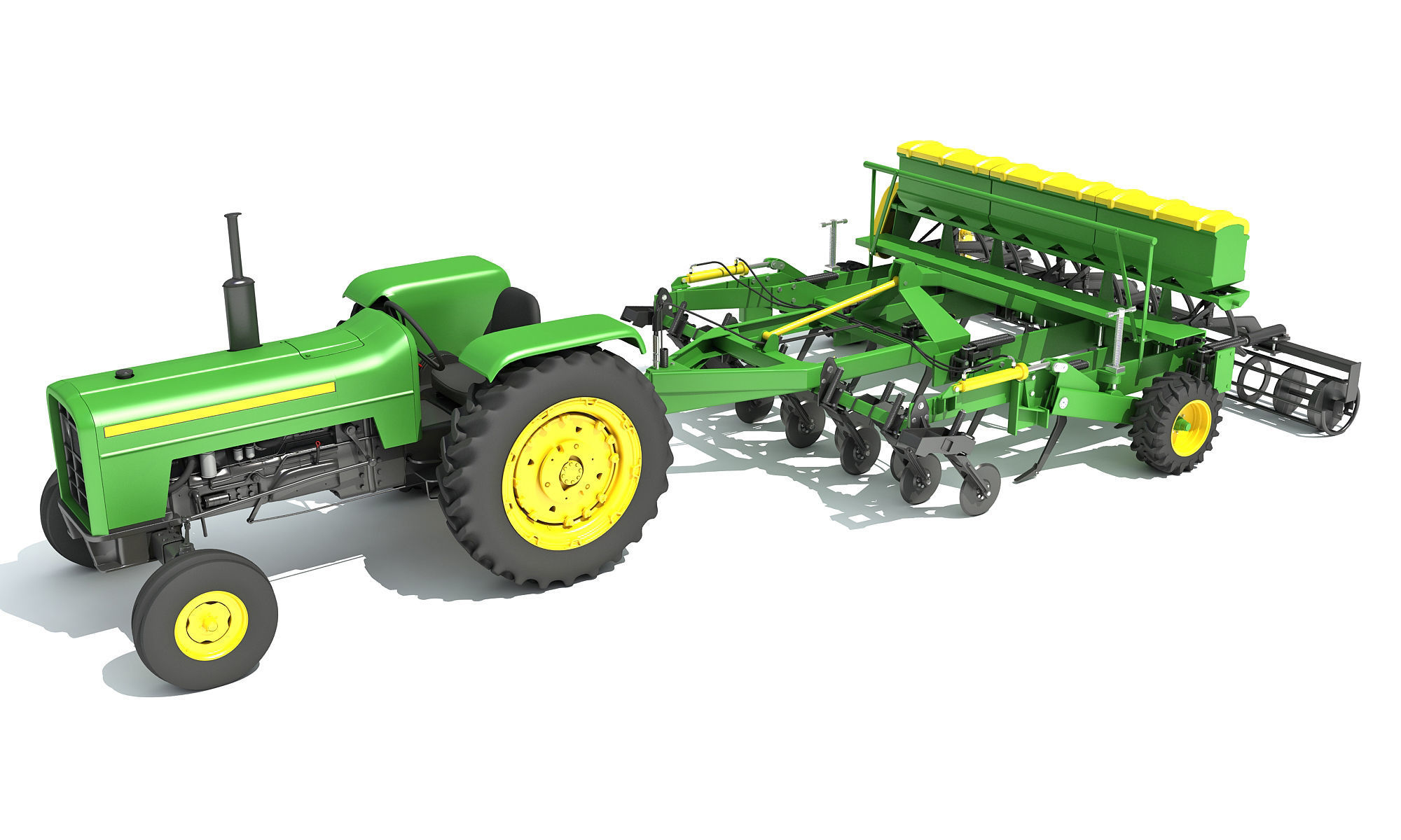 Disc Harrow with Tractor