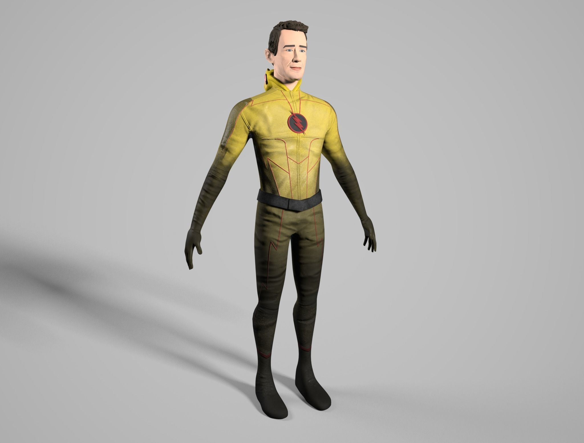 Reverse Flash Tom Cavanagh Stylized 3D Model